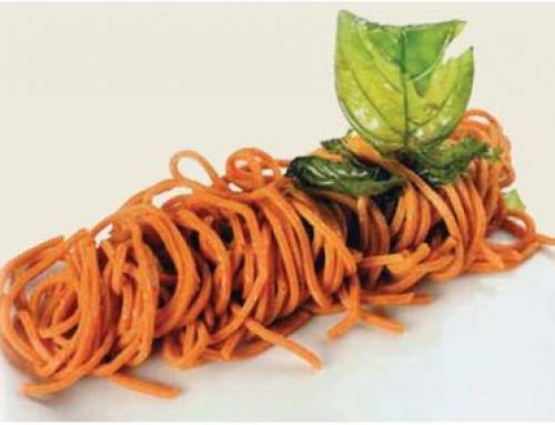 SCIALATIELLI al Peperone dolce di PONTECORVO con olio novello e basilico